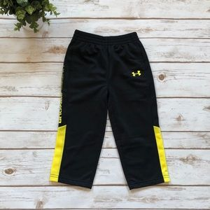 Under Armour Black and Yellow Stripe Jogger